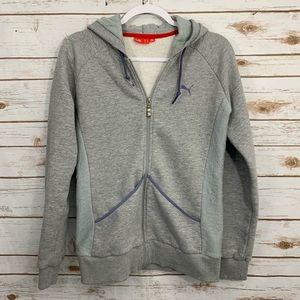 PUMA Zippered Front Sweatshirt with Hood L